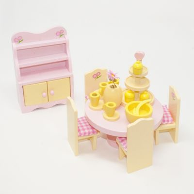Sweetbee Dining Room Dolls House Furniture Set