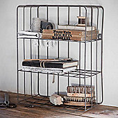 Farringdon Wirework Wall Crate in Charcoal