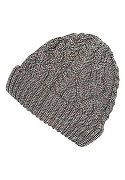 "F&F Chunky Cable Knit Beanie with Thinsulate""™ - Grey"