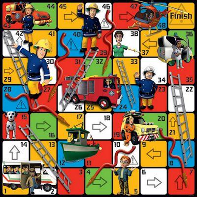 Jumbo Games Fireman Sam Hoses Ladders Giant Floor Game 80cm 80cm Jumbo