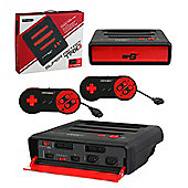 Retro Bit Super RetroTRIO 3 in 1 console Red/Black NES/SNES/Mega Drive PAL