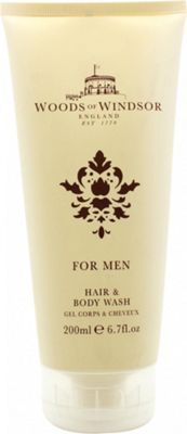 Woods of Windsor For Men Hair and Body Wash 200ml