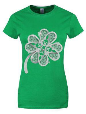 Lucky Irish Clover Green Women's T-shirt