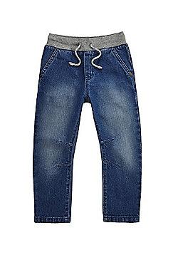 F&F Rib Waist Jeans - Denim