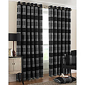 Riva Home Horizon Eyelet Curtains - Charcoal