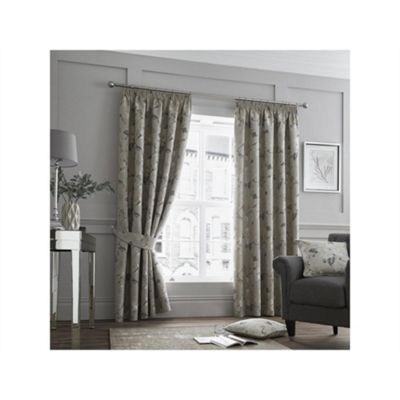 Curtina Natural Andria Pencil Pleat Curtains - 66x90 Inches (168x229cm)