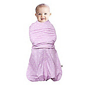 Clevamama 0-3 Months 3 in 1 Pink Baby Infant Swaddle Sleeping Bag