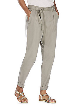 F&F Tencel® Tapered Leg Trousers - Khaki