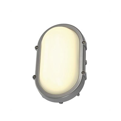 Terang Wall And Ceiling Light Oval Silver 8W LED Classic Style
