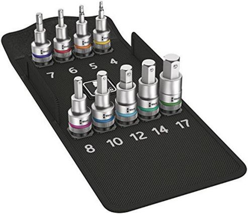 Wera 05004201001 8740 60 mm x 1/2-Inch Drive Metric C HF Zyklop In-Hex Socket Set with Fastener Holding Function (10-Piece)
