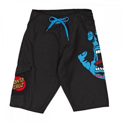 Santa Cruz Screaming Hand Boardshorts - Black with Red Dot