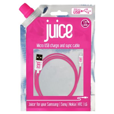 Juice Micro USB Cable Pink 1.5M
