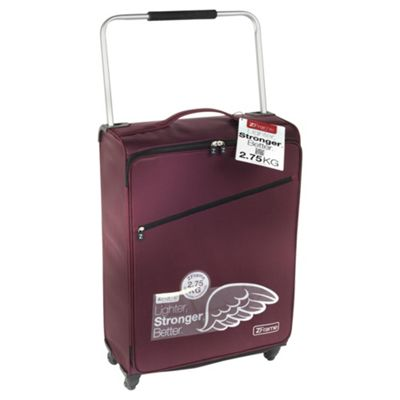 Buy Z Frame Super-Lightweight 4-Wheel Suitcase, Aubergine Large from ...