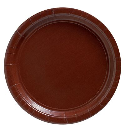 Chocolate Brown Plates - 23cm Party Plates - 20 Pack