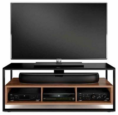 BDI Sonda Black and Walnut TV Stand
