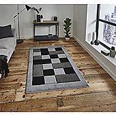 Matrix Check Border Grey Runner - 60x225cm