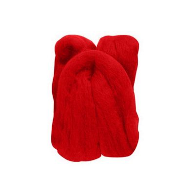 Impex Natural Wool Roving Red 10 Grams