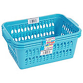 Wham Medium Handy Basket 3 Pack Blue