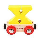Bigjigs Rail Rail Name Letter X (Yellow)