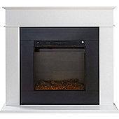 Adam Farrington Fireplace Suite in Pure White