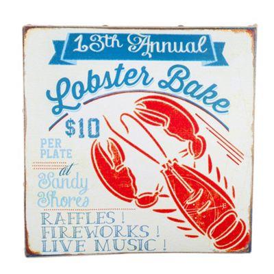 San Fran' Nautical 'Lobster Bake' Canvas Print Wall Art for the Home
