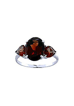 QP Jewellers 4.10ct Garnet Vogue Ring in 14K White Gold