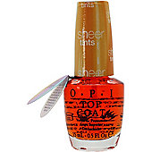 OPI Sheer Tints Top Coat 15ml - I'm Never Amberrassed NTS01