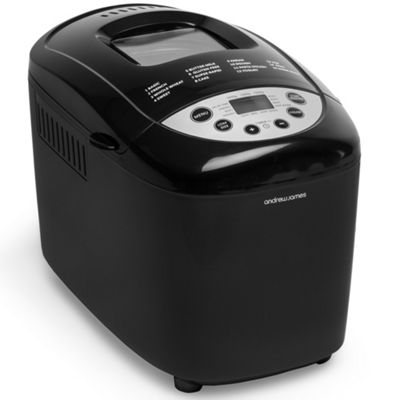 Andrew James Dual Blade Bread Maker 15 Pre-Set Functions Inc. Gluten Free Mode - Black