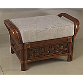 Desser Santiago Footstool in Lily Fabric