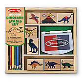 Melissa And Doug Stamp Set Dinosaurs