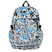 Chok Blue & Black Graffiti Backpack