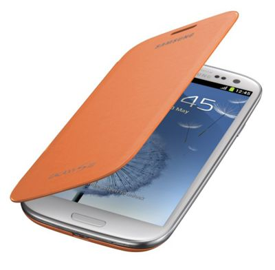 Samsung Original Notebook Style Flip Case for Galaxy S3 - Orange