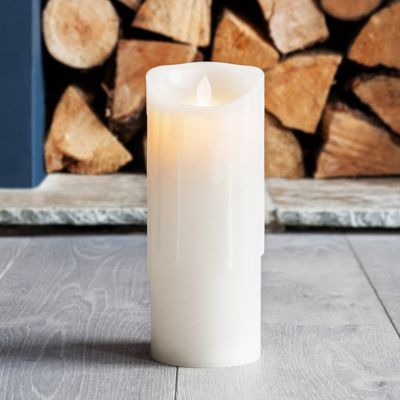 Large Dripping Wax Dancing Flame Battery LED Candle