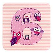 Little Stars Girls 6th Birthday Card