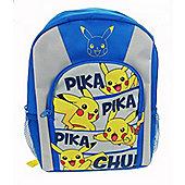 Pokemon 'Pikachu' Blue Sports School Bag Rucksack Backpack