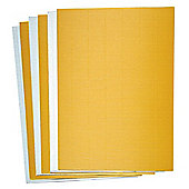 Gold & Silver Corrugated Card Sheets Set - Creative Xmas Art Supplies for Crafting Scrapbooking and Christmas Decoration/Card Making (Pack of 10)