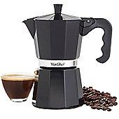 VonShef Black 6 Cup/300ml Espresso Coffee Maker