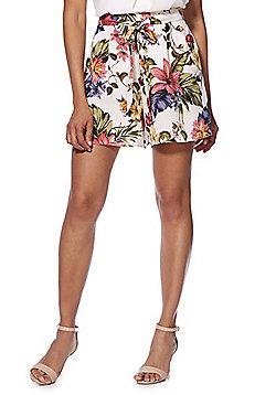 F&F Floral Tie Waist Shorts - Multi