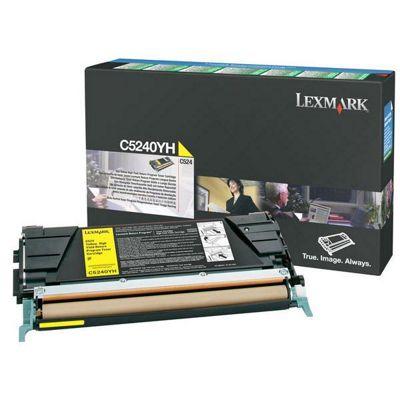 Lexmark C524 Yellow High Yield Return Program Toner Cartridge (Yield 5,000 pages)