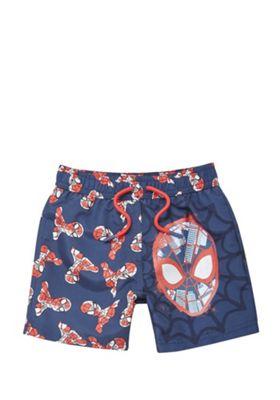 Marvel Spider-Man Board Shorts Navy 12-18 months