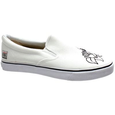 Vision Calavera Flo Slip on White/Black Shoe
