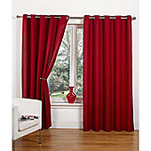 Hamilton McBride Canvas Unlined Ring Top Curtains - Red