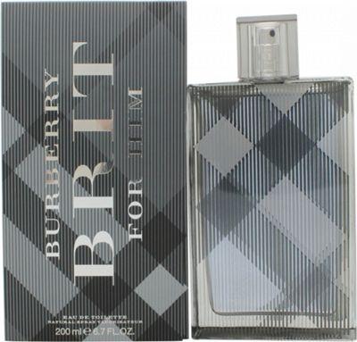 Burberry Brit For Men Eau de Toilette (EDT) 200ml Spray For Men