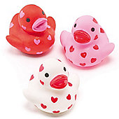Party Bag Mini Heart Rubber Ducks (Pack of 6)