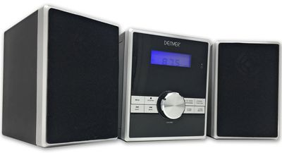 Denver MCA-230 CD player Micro HiFi with Clock Alarm & Aux IN