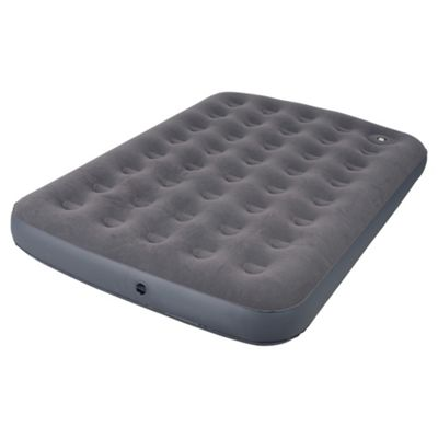Tesco Flocked Double Air Bed with Foot Pump