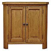 Cambridge Petite Rustic Oak Corner Cabinet