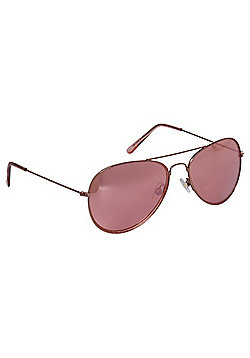 F&F Mirrored Aviator Sunglasses Rose pink