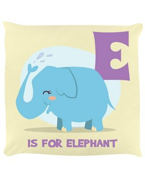 E Is For Elephant Cushion 40x40cm, Cream