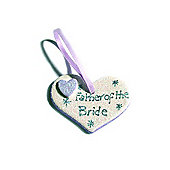 Father of the Bride Lilac Sparkle Heart